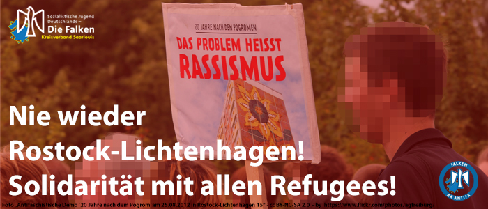 Nie wieder Rostock-Lichtenhagen!